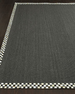MacKenzie-Childs Courtly Check Black Sisal Rug