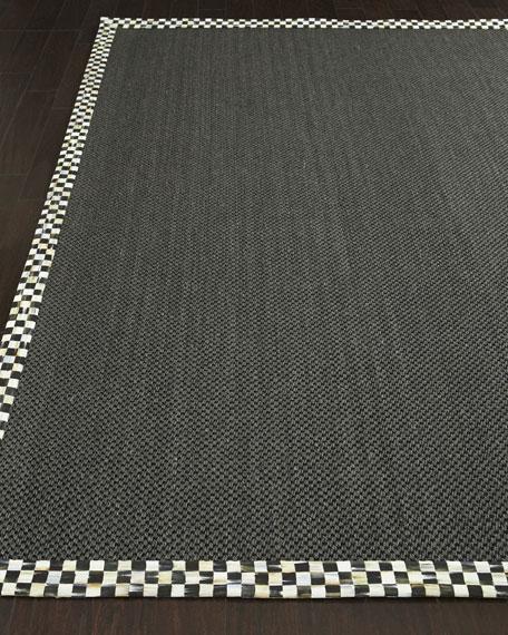 Courtly Check Black Sisal Rug, 6' x 9'