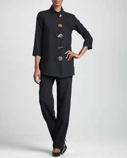 Caroline Rose Stretch-Gabardine Travel Jacket & Pants