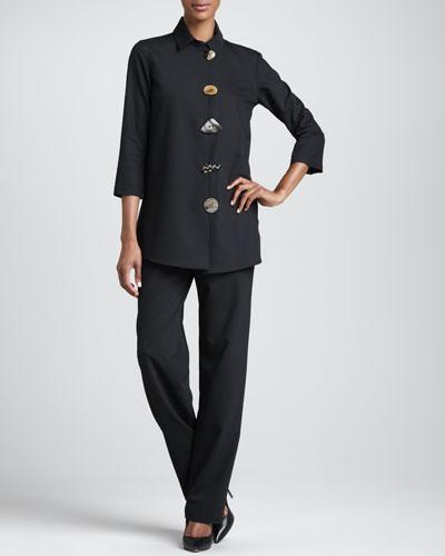 Caroline Rose Stretch-Gabardine Travel Jacket & Pants
