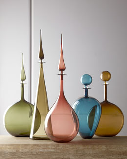 Joe Cariati Glass Hand-Blown Glass Bottles