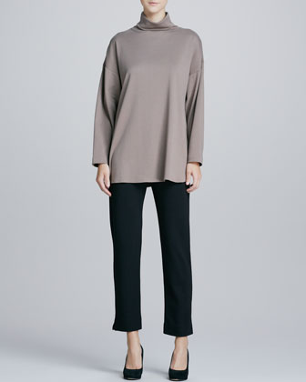 Oso Oversized Turtleneck Tunic & Slim Ponte Ankle Pants