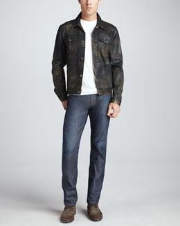 7 For All Mankind Camo Jean Jacket & Slimmy Copper River Jeans