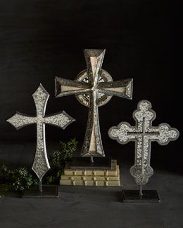 Janice Minor Silver-Tone Tabletop Crosses
