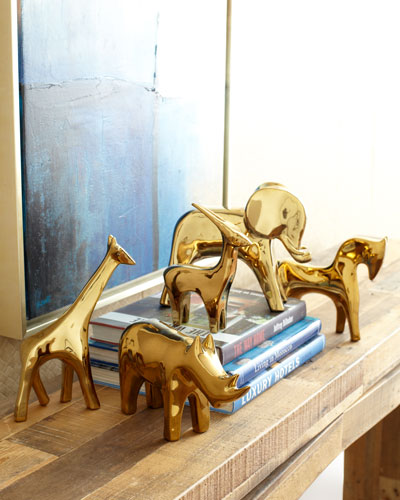 Dwell Studios by Global Views Golden Animal Sculptures