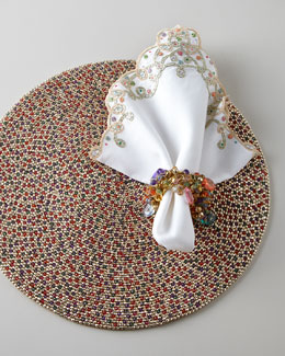 Kim Seybert Beaded Placemat & Napkins