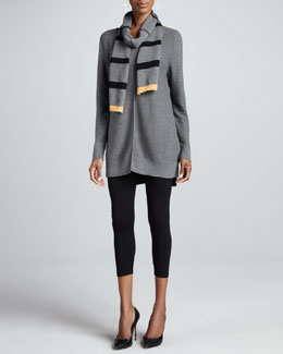 Eileen Fisher Organic Cotton Links Tunic, Jersey Leggings & Bar-Striped Scarf