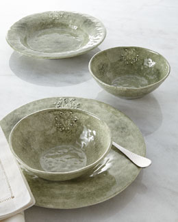 Caff Ceramiche Green Crest Dinnerware