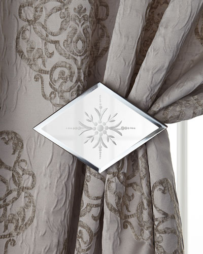 "Dian Austin Couture Home ""Venetian Glass"" Curtains & Mirrored Holdback/Tieback"