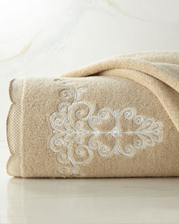 """French Perle"" Embroidered Towels"