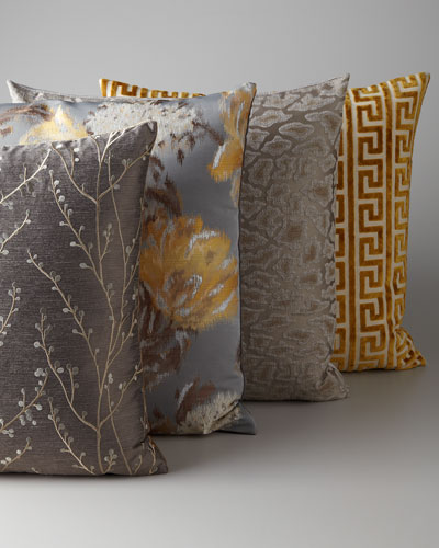 Gray and Gold Pillow Group