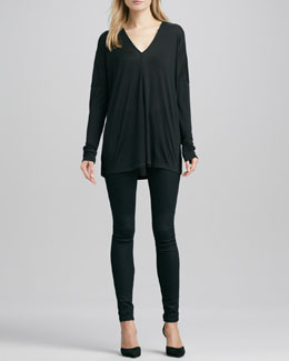 Vince Long-Sleeve V-Neck Tee & Riley Leggings
