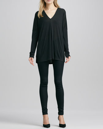 Long-Sleeve V-Neck Tee & Riley Leggings
