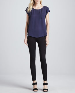 Joie Rancher Short-Sleeve Pocket Blouse & Keena Ponte Leggings