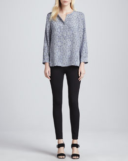 Joie Nepal Printed Long-Sleeve Top & Keena Ponte Leggings