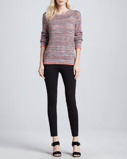 Joie Carlee Multicolor Knit Sweater & Keena Ponte Leggings