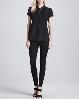 Joie Steffie B Embroidered Top & Keena Ponte Leggings