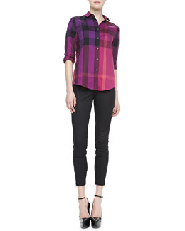 Burberry Brit Check Long-Sleeve Shirt & Skinny Trousers with Ankle Zip