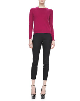 Burberry Brit Cashmere Sweater with Elbow Patches & Skinny Trousers with Ankle Zip