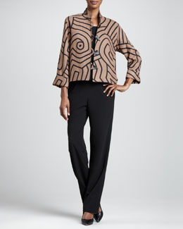 Caroline Rose Graphic Suede Boxy Jacket, Gabardine Travel Tank & Pants