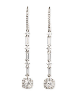 Forevermark Maria Canale Deco 18k Gold Diamond Drop Earrings