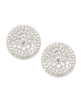 Forevermark Maria Canale Swing Collection Thumbprint Diamond Stud Earrings