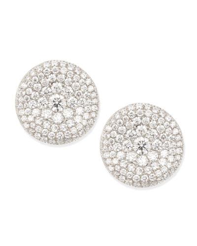 Swing Collection Thumbprint Diamond Stud Earrings