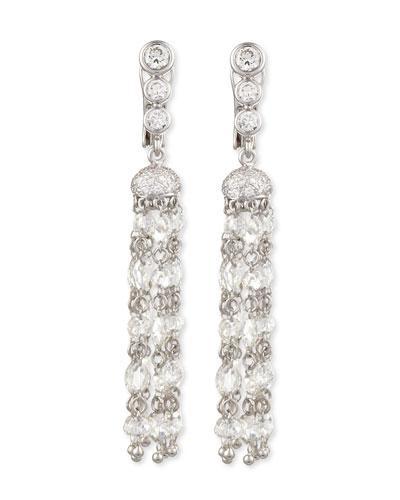 Swing Collection Rose-Cut Tassel Earrings