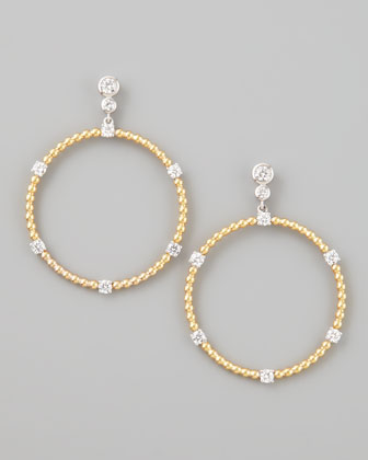Maria Canale for Forevermark Swing Diamond Gold Ball Hoop Earrings