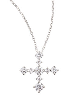 Maria Canale for Forevermark Anniversary Collection Diamond Cross Pendant Necklace