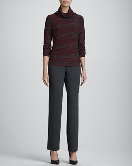 Lafayette 148 New York Intarsia Fine-Gauge Sweater & Milano Straight-Leg Pants