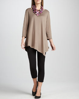 Joan Vass Asymmetric Tunic & Cropped Leggings