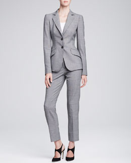 Armani Collezioni Classic Check Two-Button Jacket & Slim-Leg Trousers