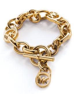 Michael Kors  Logo-Lock Charm Bracelet, Golden