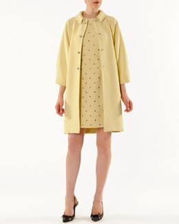 Dolce & Gabbana Crystal-Button Kimono Coat and Dotted-Crystal A-Line Dress