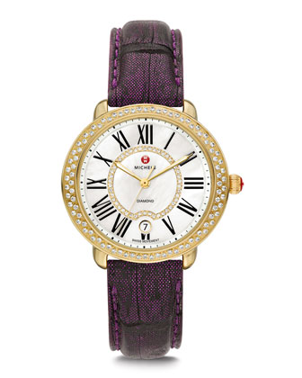 Serein Golden Diamond Watch Head & 16mm Strap