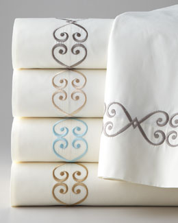 Matouk Embroidered Charleston Sheets