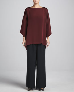 eskandar 3/4-Sleeve Bateau-Neck Tunic & Flared Trousers