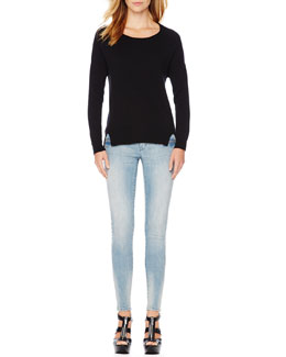 MICHAEL Michael Kors  Long-Sleeve Split Sweater & Zip-Pocket Skinny Jeans