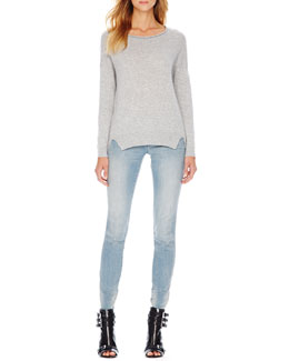 MICHAEL Michael Kors  Rolled-Neck Cashmere Sweater & Zip-Pocket Skinny Jeans