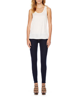 MICHAEL Michael Kors  Loose Sleeveless Tank & Seamed Ponte Pants