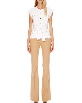 Cargo Shirt & Stretch-Cotton Skinny Pants