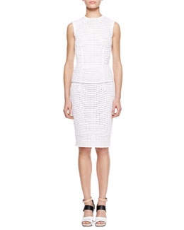 Alexander Wang Fitted Eyelet Tank and Pencil Skirt