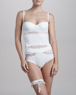 La Perla Allure Convertible Corset, High-Waist Thong & Lace Bow-Tie Garter