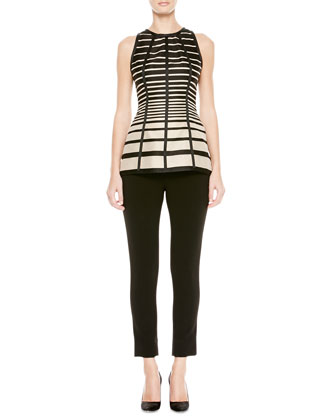 Striped Seamed Halter Blouse and Catharine Cropped Pants
