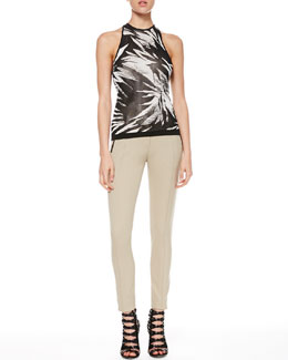 Jason Wu Botanical Knit Halter Tank & Bi-Stretch Ankle Pants