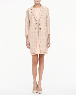 kate spade new york renata long tweed coat & della tweed sheath dress