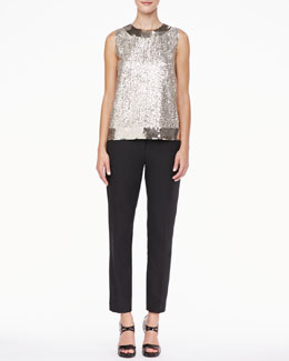 kate spade new york serene sleeveless sequined top & jackie tuxedo pants