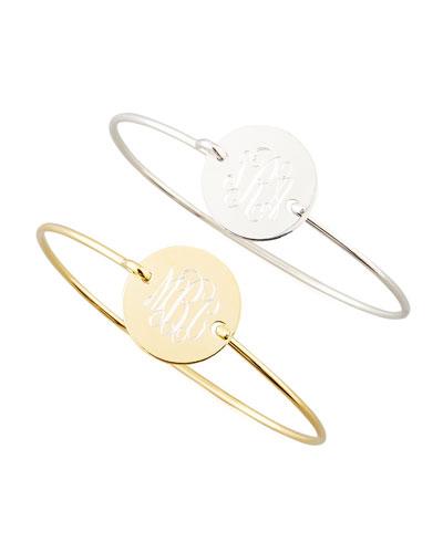 Chiara Monogrammed Circle Bracelet