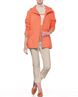 Loro Piana Ronny Storm Jacket, Dolcevita Striped Pullover & Giles Cropped Pants